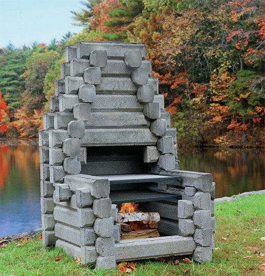 Outdoor fireplaces for Precast concrete outdoor fireplace kits