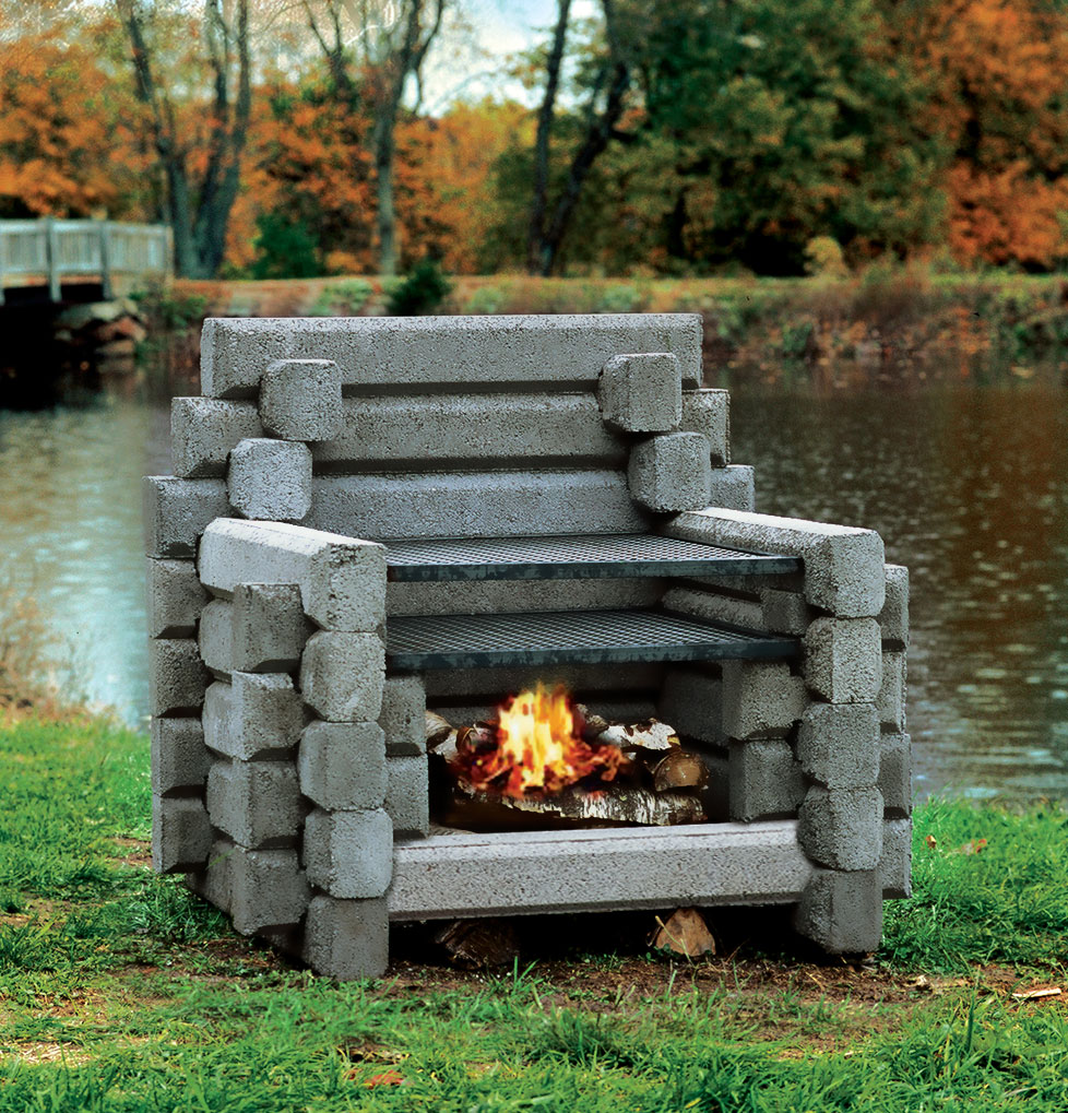 The The Deluxe 5 Logger  Precast Outdoor Fireplaces