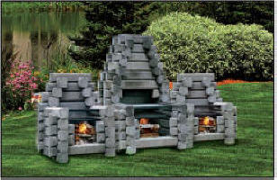 Captivating The Deluxe Firepitt From Precast Outdoor Fireplaces