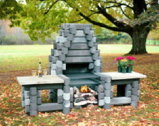 The Mt. Katahdin from Precast Outdoor Fireplaces