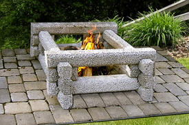 open delux fireplace