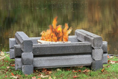 The Deluxe Firepitt from Precast Outdoor Fireplaces