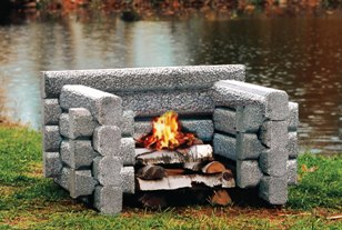 The Four Loggert from Precast Outdoor Fireplaces