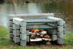 The Special Four Loggert from Precast Outdoor Fireplaces